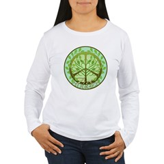 Peaceful Tree Hugger Women's Long Sleeve T-Shirt