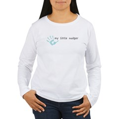 My Little Nudger (boy) Women's Long Sleeve T-Shirt