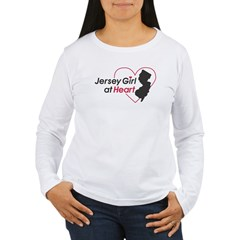 Jersey Girl At Hear Women's Long Sleeve T-Shirt