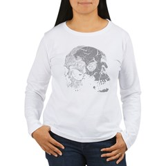Skulls Double Time Women's Long Sleeve T-Shirt