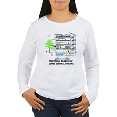 zombie survival building Women's Long Sleeve T-Shirt