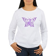 Alzheimer's Awareness Butterfly Women's Long Sleeve T-Shirt