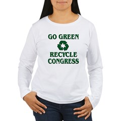 Go Green - Recycle Congress Women's Long Sleeve T-Shirt