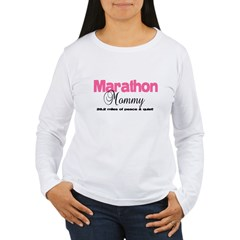 Marathon Mommy Peace Quie Women's Long Sleeve T-Shirt