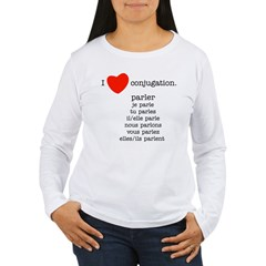 I love conjugation Women's Long Sleeve T-Shirt