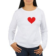 I Heart Volleyball: Women's Long Sleeve T-Shirt