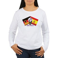 Germany vs. Spain 2010 Soccer Women's Long Sleeve T-Shirt