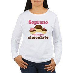 Chocolate Soprano Women's Long Sleeve T-Shirt