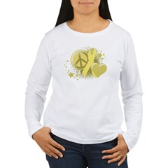 Spina Bifida Peace Love Cure Women's Long Sleeve T-Shirt