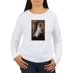 &quot;Sitting Pretty&quot; Cairn Terrier Women's Long Sleeve T-Shirt