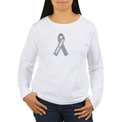 Brain Cancer Hope Women's Long Sleeve T-Shirt