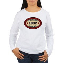 Birthday Vintage Model Year Women's Long Sleeve T-Shirt