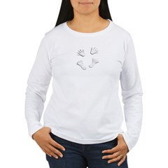 2-HandsandFeetTopCanvas Women's Long Sleeve T-Shirt