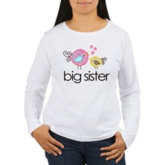 MASTER whimsy birds front no personalization Women's Long Sleeve T-Shirt