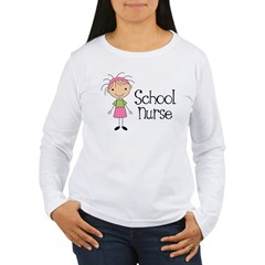 School Nurse Women's Long Sleeve T-Shirt