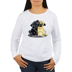 Black Fawn Pug Women's Long Sleeve T-Shirt