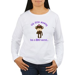big sister pink brown flower Women's Long Sleeve T-Shirt
