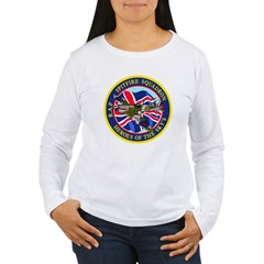 SPITFIRE w.UK flag Women's Long Sleeve T-Shirt