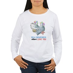 Sea Creatures Women's Long Sleeve T-Shirt