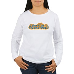 Suns out guns out -- Men Women's Long Sleeve T-Shirt