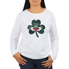 Shamrock Claddagh Women's Women's Long Sleeve T-Shirt