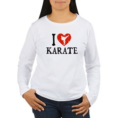 I Heart Karate - Girl Women's Long Sleeve T-Shirt