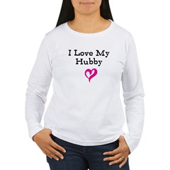 I Love My Hubby Women's Long Sleeve T-Shirt