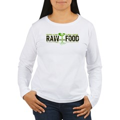 RawFood_DARK_Background Women's Long Sleeve T-Shirt