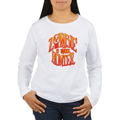 Zombie Hunter In Training Women's Long Sleeve T-Shirt