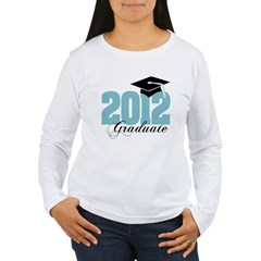 2012 graduate color aqua Women's Long Sleeve T-Shirt
