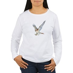 striking Red-tail Hawk Women's Long Sleeve T-Shirt