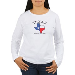 tx Women's Pink Women's Long Sleeve T-Shirt