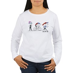 Triathlete Girl Women's Long Sleeve T-Shirt
