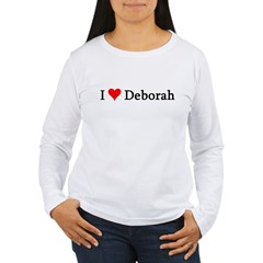 I Love Deborah Women's Long Sleeve T-Shirt