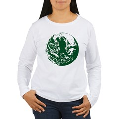 WalkworldGlobe2 Women's Long Sleeve T-Shirt
