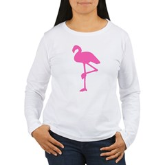 Hot Pink Flamingo Women's Long Sleeve T-Shirt