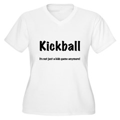 Kickball Women's Plus Size V-Neck T-Shirt