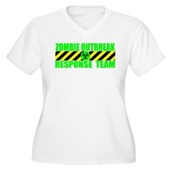 Zombie Outbreak Response Team Women's Plus Size V-Neck T-Shirt