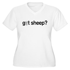 got Sheep? Women's Plus Size V-Neck T-Shirt