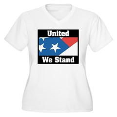 United We Stand Women's Plus Size V-Neck T-Shirt