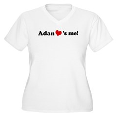 Adan loves me Women's Plus Size V-Neck T-Shirt