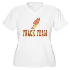 Track Team Women's Plus Size V-Neck T-Shirt