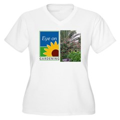 Eye on Gardening Tropical Plants Women's Plus Size V-Neck T-Shirt