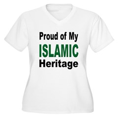Proud Islamic Heritage Women's Plus Size V-Neck T-Shirt