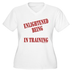 Enlightened Being Women's Plus Size V-Neck T-Shirt