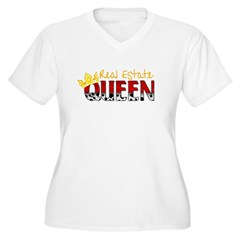 Real Estate Queen Women's Plus Size V-Neck T-Shirt