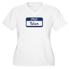 Hello: Talan Women's Plus Size V-Neck T-Shirt