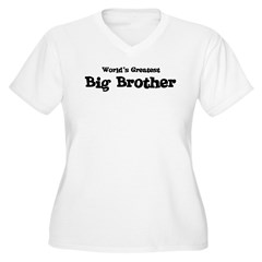 World's Greatest: Big Brother Women's Plus Size V-Neck T-Shirt