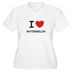 I love watermelon Women's Plus Size V-Neck T-Shirt