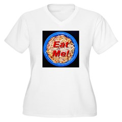 Eat Me! Women's Plus Size V-Neck T-Shirt